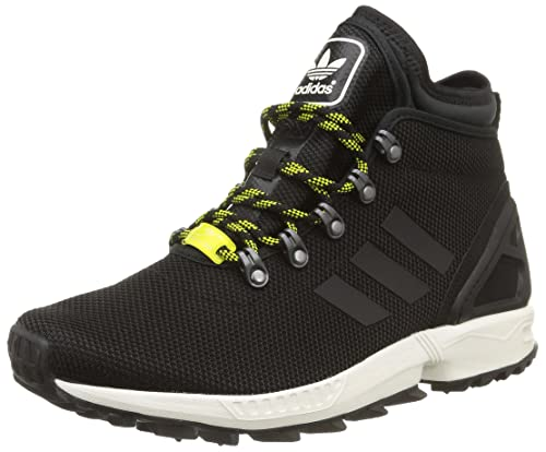 release date many styles well known Adidas - ZX Flux Winter - S82933 - Color: Black-White-Yellow ...
