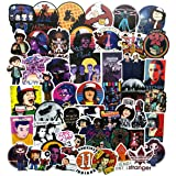 50PCS Stranger Things Movie Stickers Laptop Sticker Computer Bedroom Wardrobe Car Skateboard Motorcycle Bicycle Mobile Phone Luggage Guitar DIY Decal for Teens (Stranger Things 50)