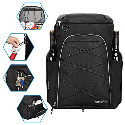 SEEHONOR Insulated Backpack Cooler Leakproof Spacious Lightweight Soft Lunch