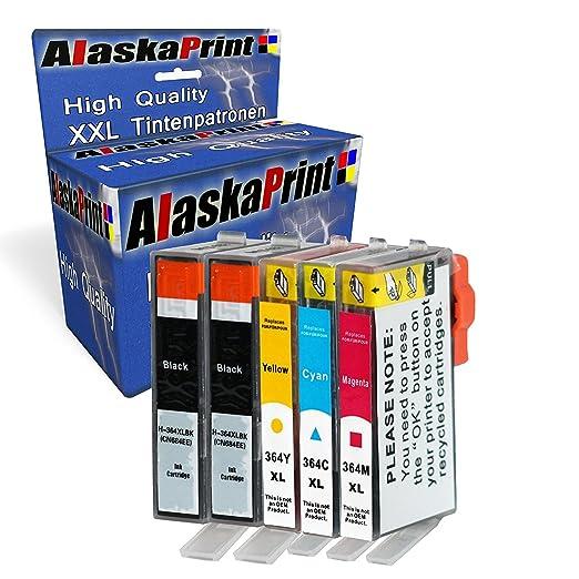 11 opinioni per Alaskaprint 5x Cartucce Stampante Sostituzione per Refilled HP 364XL 364