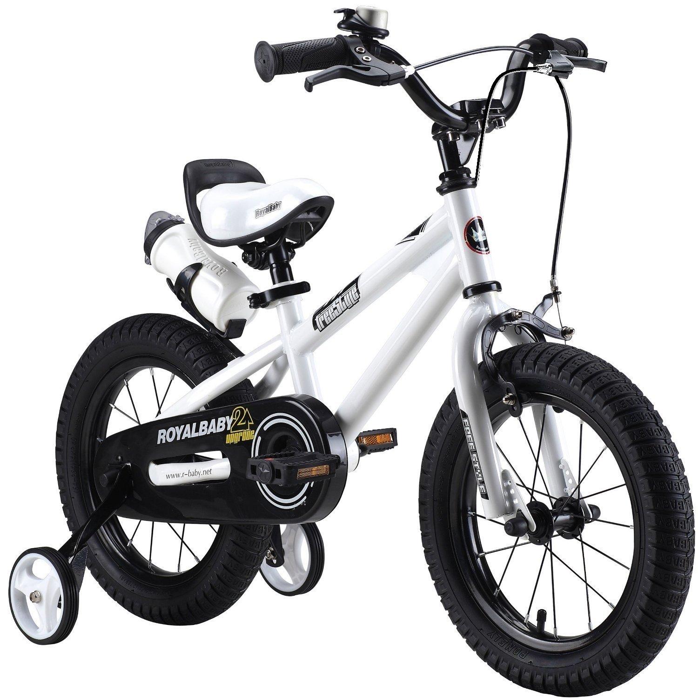 comprar nuevo barato Vélo freestyle pour enfants RoyalBaby, avec roulettes, en tailles 30 30 30 cm, 35 cm, 40 cm, 45 cm, avec gourde et porte-bouteille, blanc  bienvenido a comprar