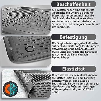 Passform Schwarz Element EXP.CAROPL00029h Passgenaue Premium Antirutsch Gummimatten Fu/ßmatten OPEL Mokka X 2012-2020