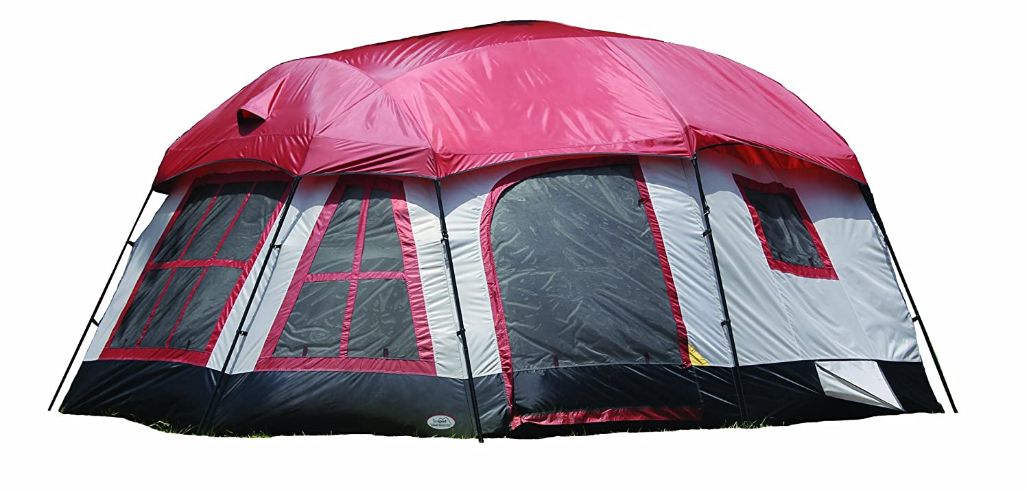 Amazon.com  Texsport Highland 8 person 3 Room Family C&ing Cabin Tent  Family Tents  Sports u0026 Outdoors  sc 1 st  Amazon.com & Amazon.com : Texsport Highland 8 person 3 Room Family Camping ...