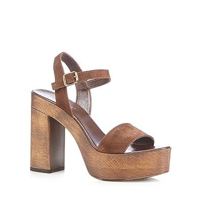 3d6bbdf9a1ac Faith Womens Tan  Deli  High Platform Sandals 6  Amazon.co.uk  Shoes   Bags