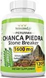 Chanca Piedra 1600 mg - 120 Tablets Kidney Stone Crusher Gallbladder Support Peruvian Chanca Piedra Made in The USA