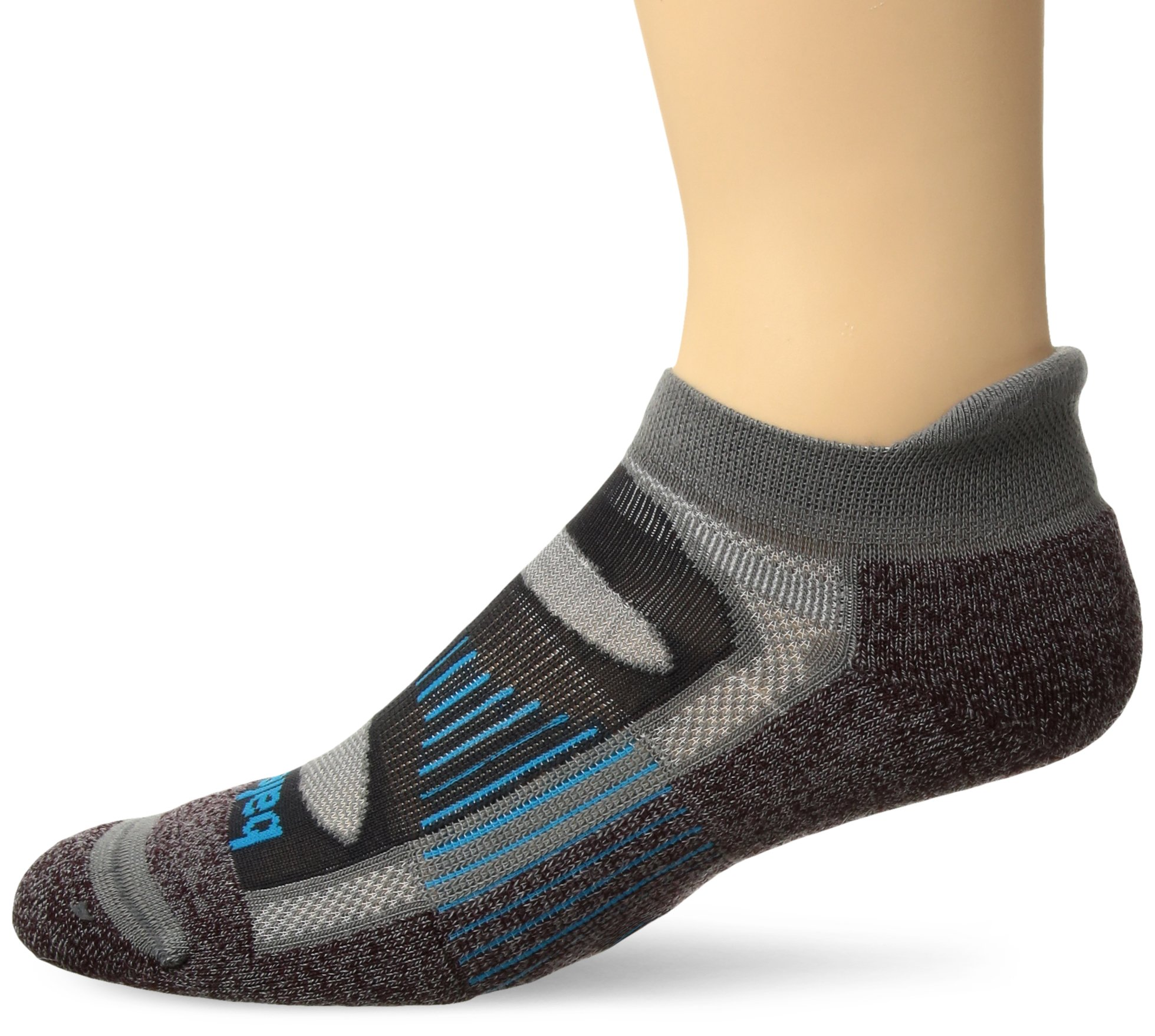 Balega Blister Resist No Show Socks For Men and Women (1-Pair), Chocolate, Small