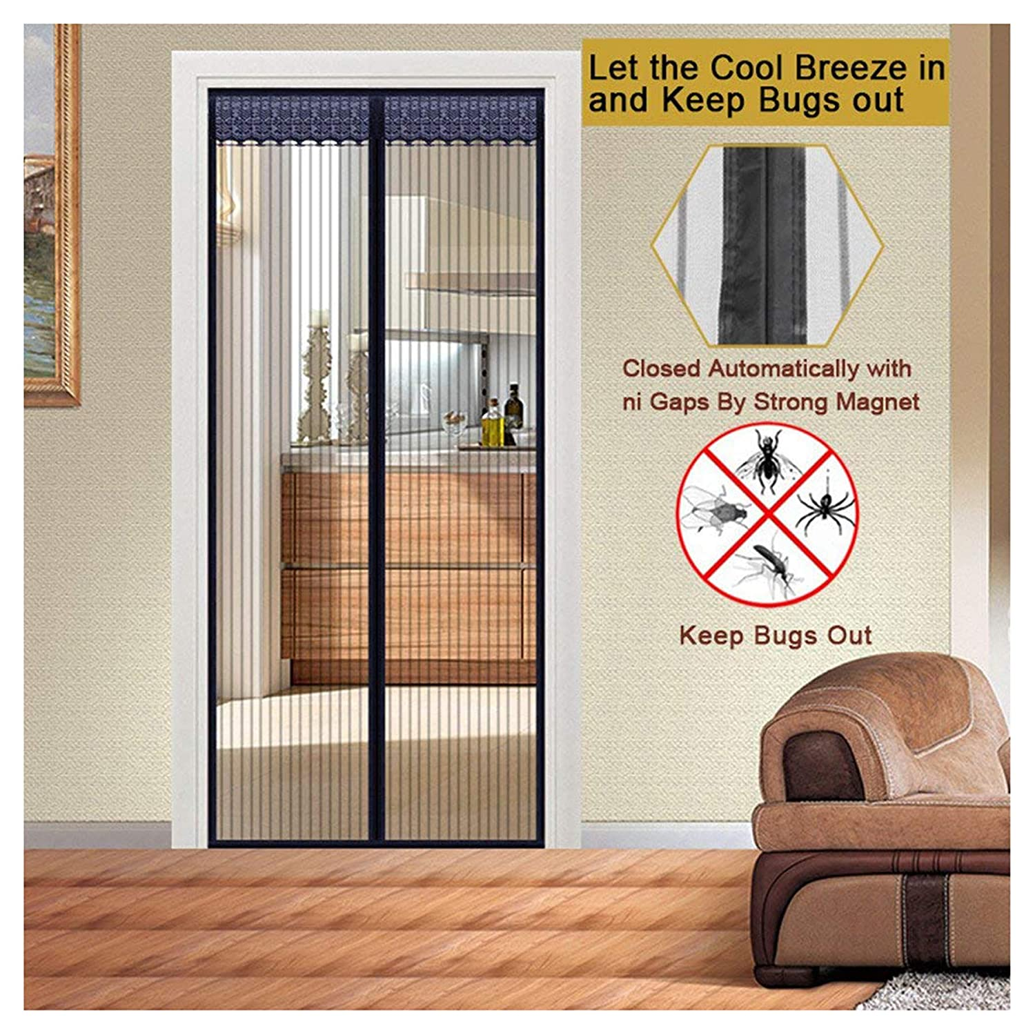 Magnetic Screen Door Premium Quality Magnetic Mesh Screen Door