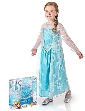 Generique Disfraz Elsa Frozen lujo en caja niña 3 a 4 años (90 a 104