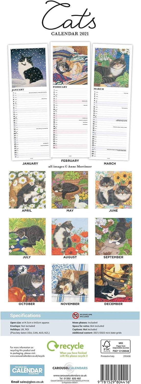 Cats Slim Calendar 2021 Anne Mortimer