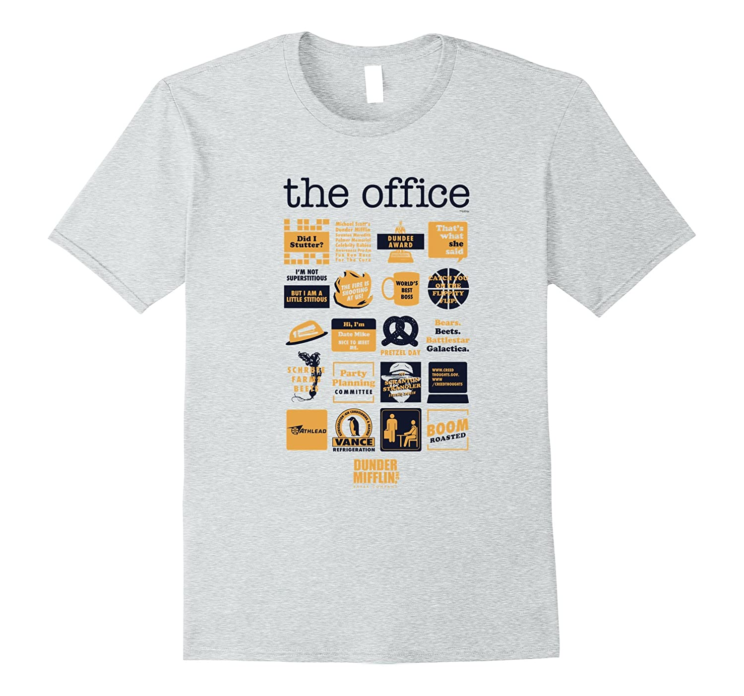 6ee9ca387 The Office Quote Mash-Up Funny T-Shirt – Official Tee-ah my shirt ...