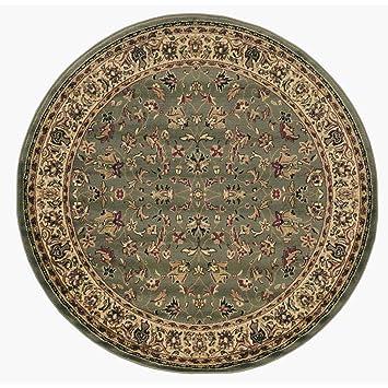 Amazon.com: 1 alfombra redonda con patrón oriental verde ...