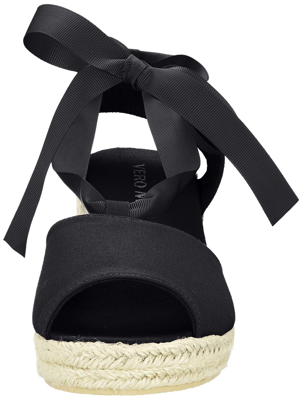 Vero Moda Vmsally Wedge Sandal, Sandalias de Talón Abierto para Mujer, Negro (Black), 38 EU