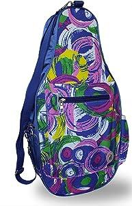 """Pickleball Marketplace Ladies Printed Pickleball Sling Bag - Multi-Color Design -""""Poppy"""" - New   Designed for Pickleball"""