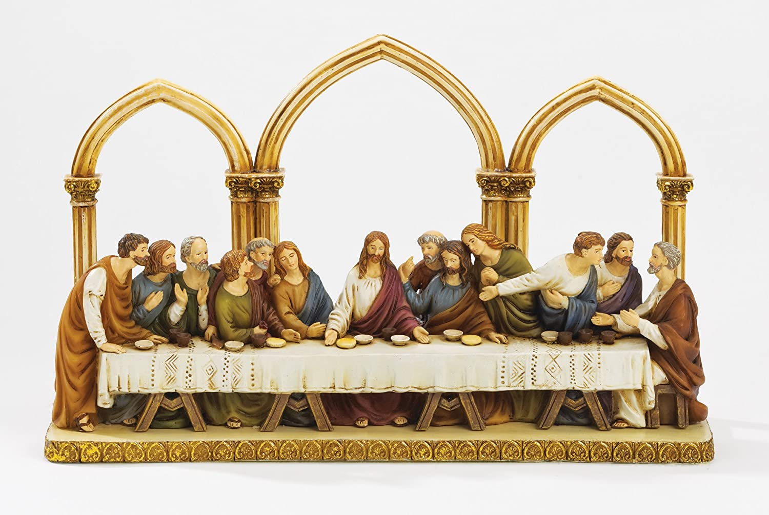 "12"" Last Supper Decorative Statue with Arches"
