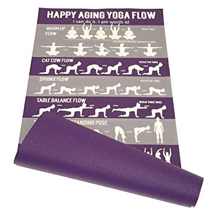 Learn Yoga - Happy Aging Yoga Mat and Instructional Videos