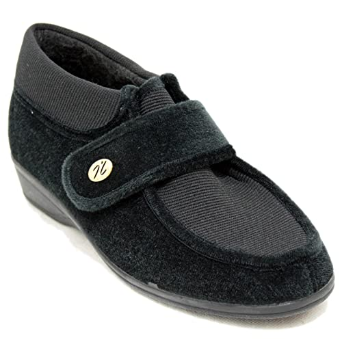 Doctor Cutillas 785 - Zapatillas de Estar por Casa para Gente Mayor con Velcro y Gran Solapa Adaptable - Negro, 41: Amazon.es: Zapatos y complementos