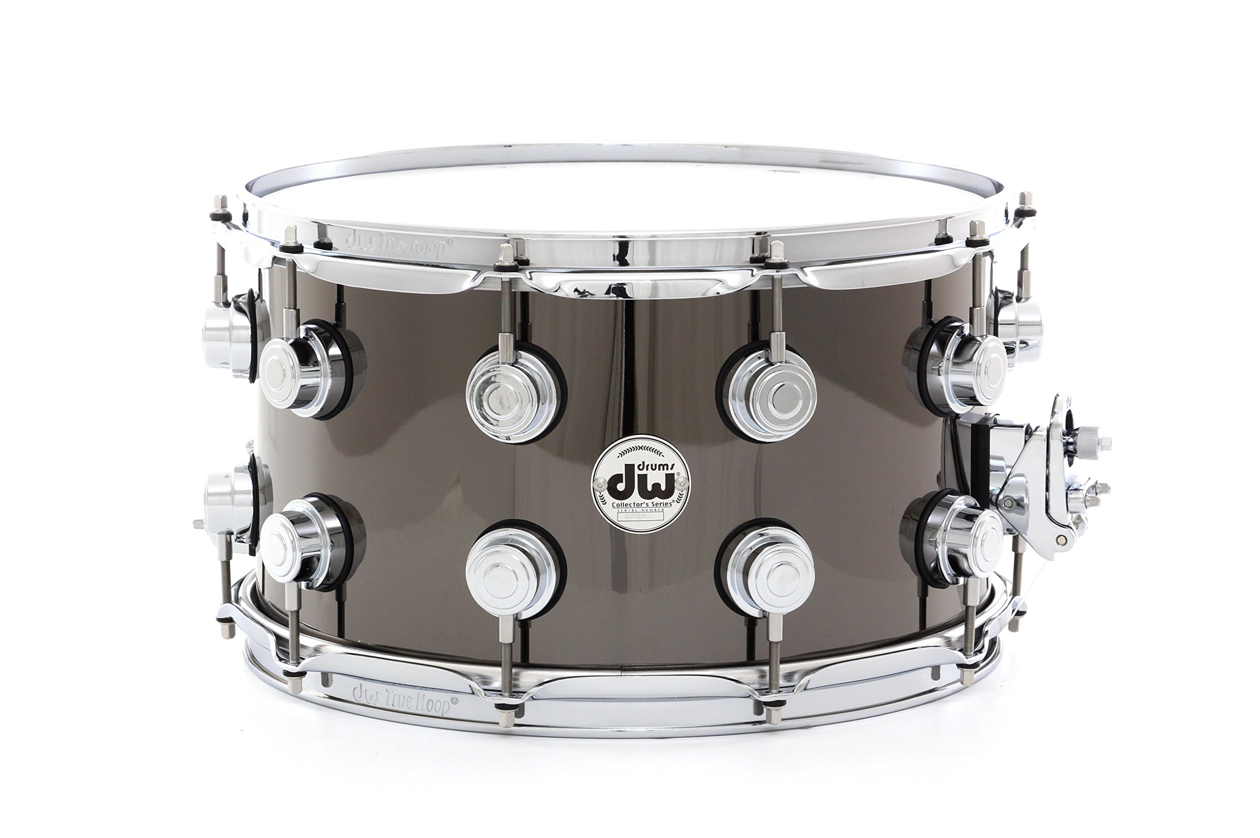 DW Collector's Series Metal Snare Drum 14 x 8 in. Black Nickel Over Brass with Chrome Hardware