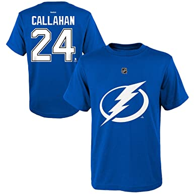 b9589559f9f Ryan Callahan Tampa Bay Lightning #24 Blue Home Kids Name And Number T  Shirt (