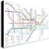 4 Sizes LONDON METRO UNDERGROUND TUBE MAP CANVAS PRINT Home Wall Decor Art