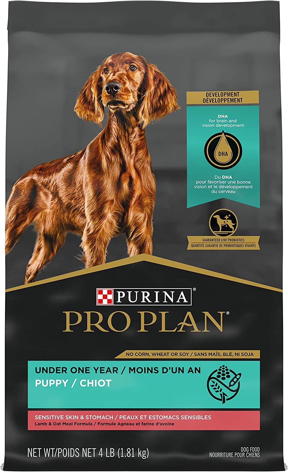 Purina Pro Plan Sensitive Skin & Sensitive Stomach Puppy Dry Dog Food (Packaging May Vary)