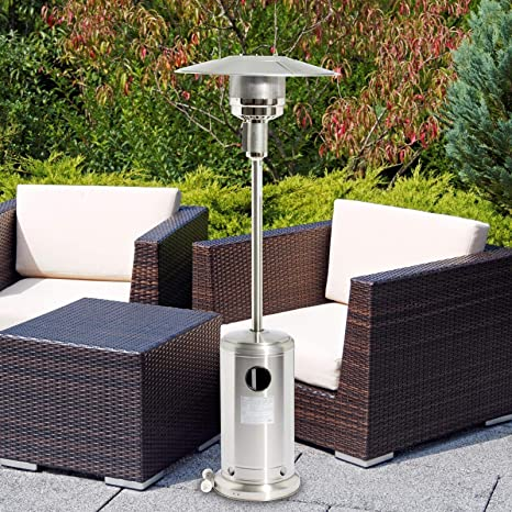 Sohler 2008286 Deluxe Portable 13000w Stainless Steel Silver Outdoor Garden Balcony Fire Bbq Pit Grill Gas Patio Heater Freestanding Controller Tower 13 Kw With Wheels Amazon De Küche Haushalt