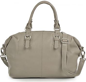 PHIL+SOPHIE, Sacs à main pour dames, sacs à bandoulière, sacs fourre-tout, 42 x 27,5 x 12,5 cm (l x H x P), couleur: Gris clair