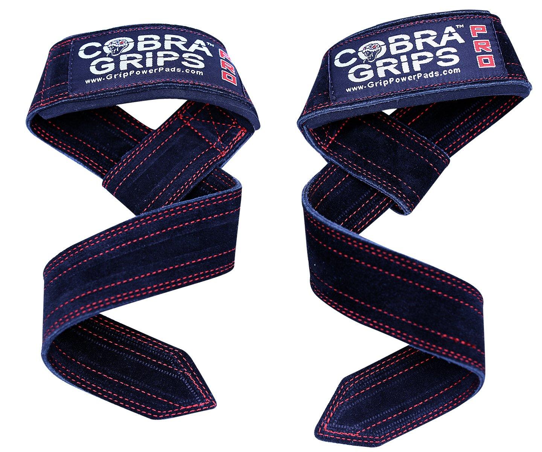 新品同様 Cobra Grips リフティングストラップ スエードレザー デッドリフト ウェイトリフティング 手首サポートストラップ パッド入り 男女兼用 ラップ ネオプレン ラップ 高耐久 パワーリフティング グリップフック パッド入り ネオプレン B078WFTWBS, タウンガス:fd270735 --- arianechie.dominiotemporario.com