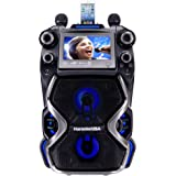 Karaoke USA Complete Rechargeable Karaoke System with 2 Microphones, Remote Control, 7'' Color Display, LED Lights – Works with Bluetooth, CD and MP3 (GF920)