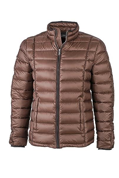 James & Nicholson Daunenjacke Mens Quilted Down Jacket - Chaqueta técnica para hombre, color marrón