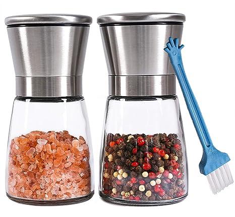 Amazon.com: Molinillo de sal y pimienta de acero inoxidable ...