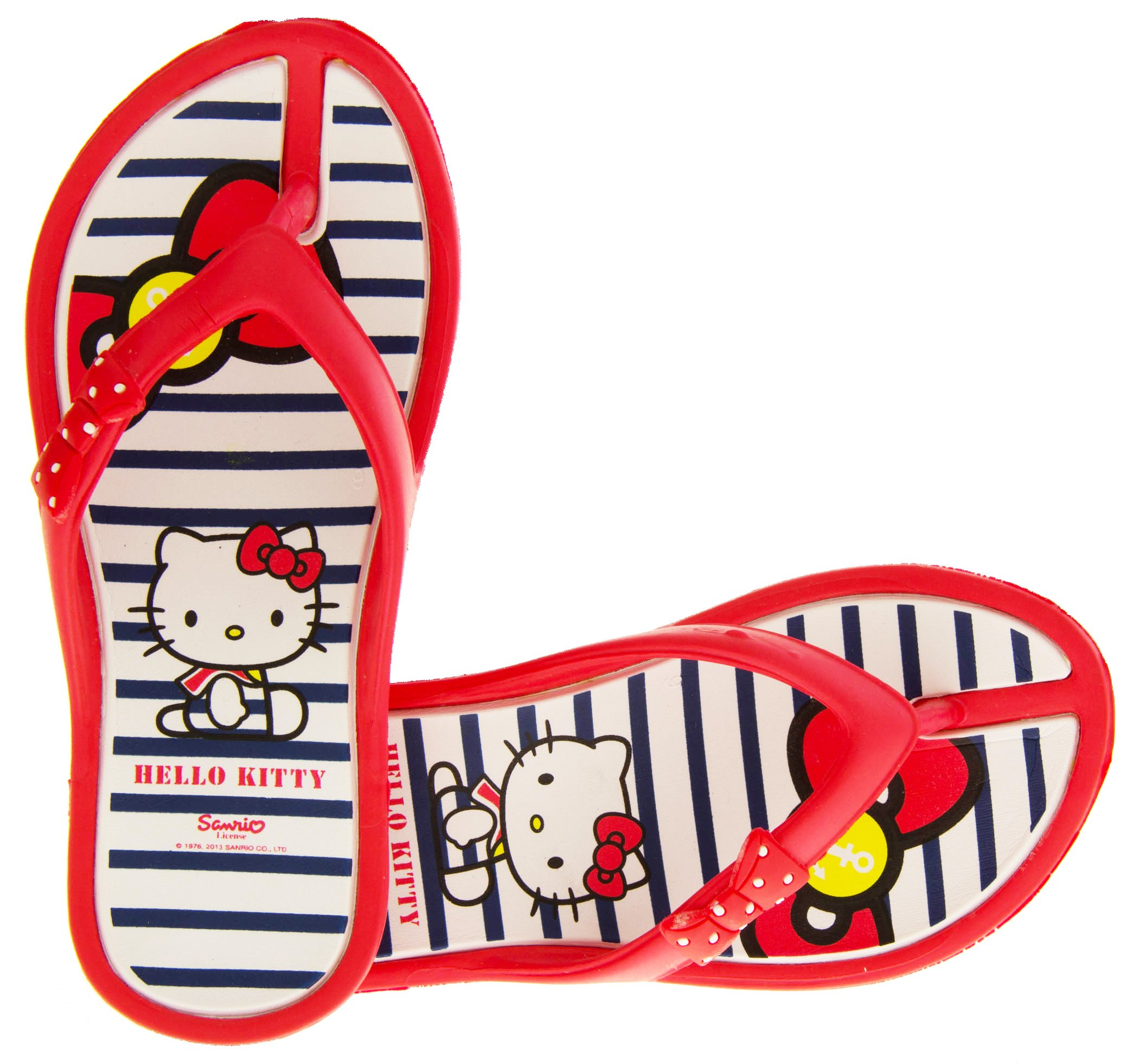 Hello Kitty Girls Ingiro Red Toe Post Thong Sandals US 13.5 Kids