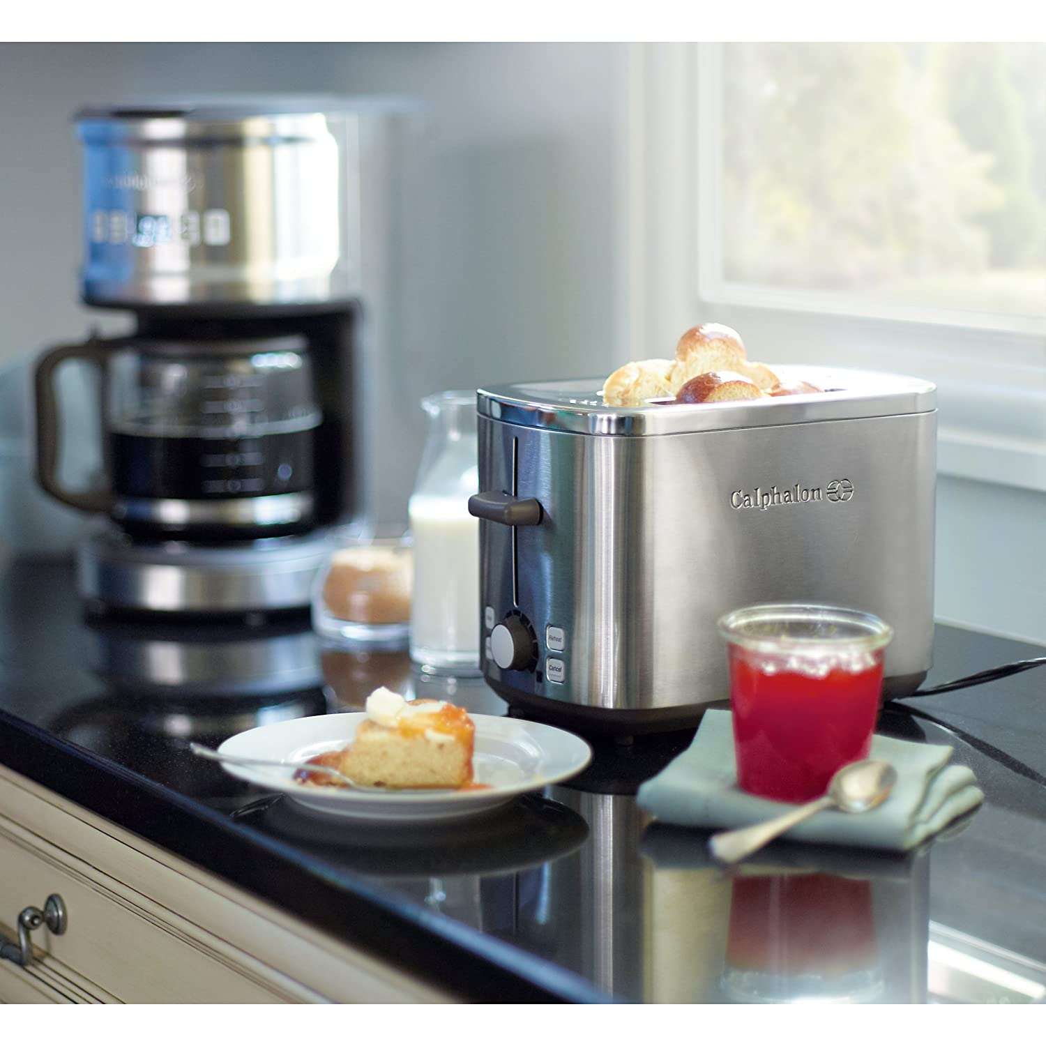 photo calphalon awesome slice of stainless slot x toaster compact