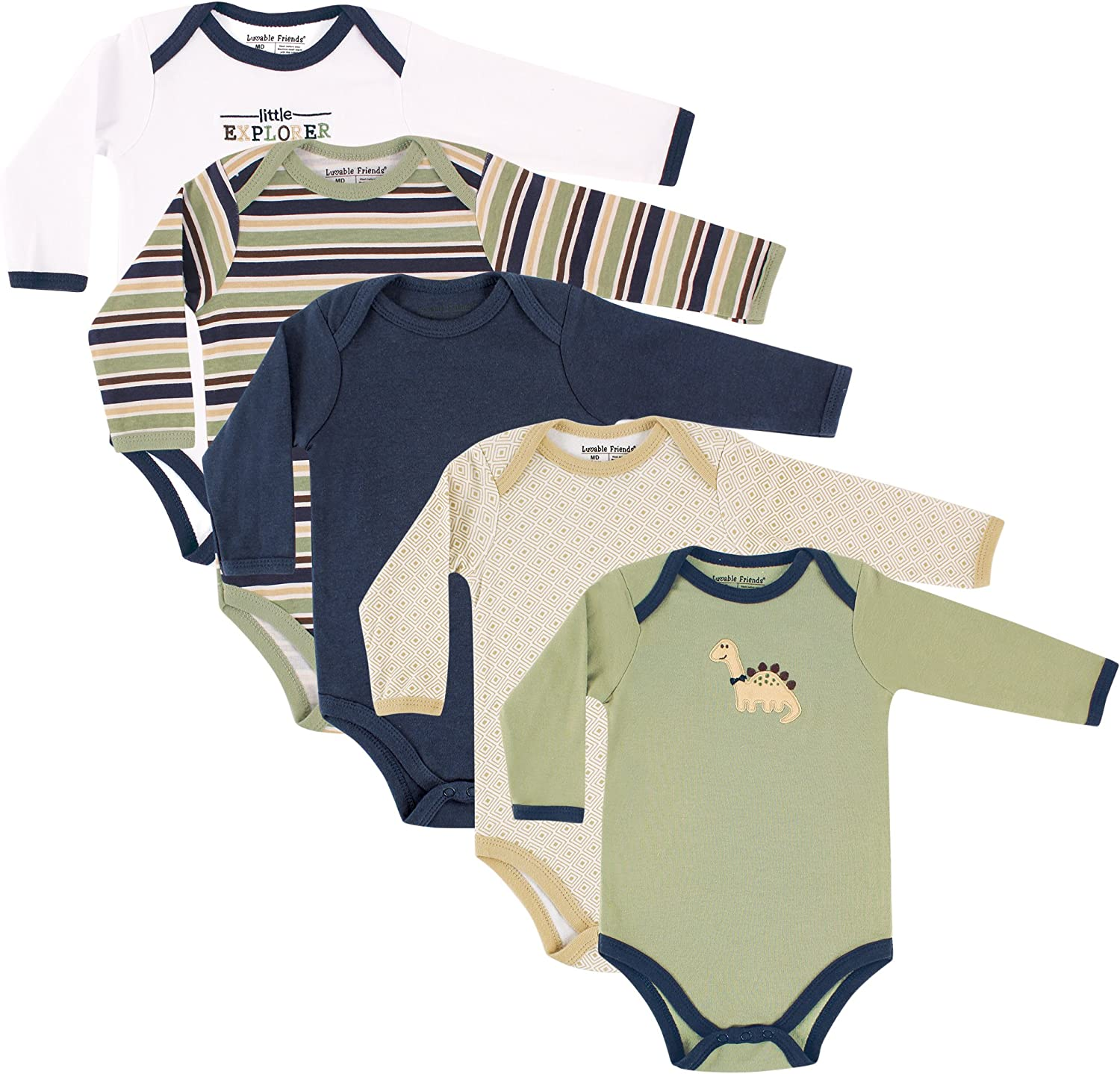 Luvable Friends baby-boys Cotton Long-sleeve Bodysuits: Clothing