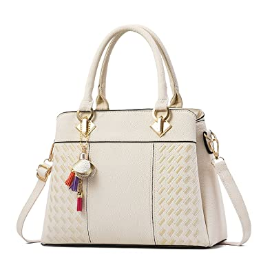 2b90089a5884 Womens Handbags and Purses Fashion Top Handle Satchel Tote PU Leather  Shoulder Bags