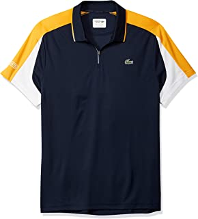 a6b1b735 Lacoste Men's Tennis Short Sleeve Ultra Dry Chevron Colorblock Polo ...