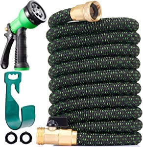150 ft Expandable Garden Hose - All New 2021 Retractable Water Hose with 3/4