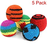 Blulu 5 Pieces Funny Hacky Ball Sacks Assoerted