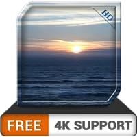 calm sunset beach HD gratis: ambiente tranquilo para superar el estrés y la ansiedad al mirar en su televisor HDR 8K 4K…