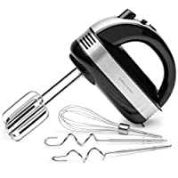 Andrew James Professional Hand Mixer, 300 Watts, 5 Speeds with Turbo Function and 3 Attachments
