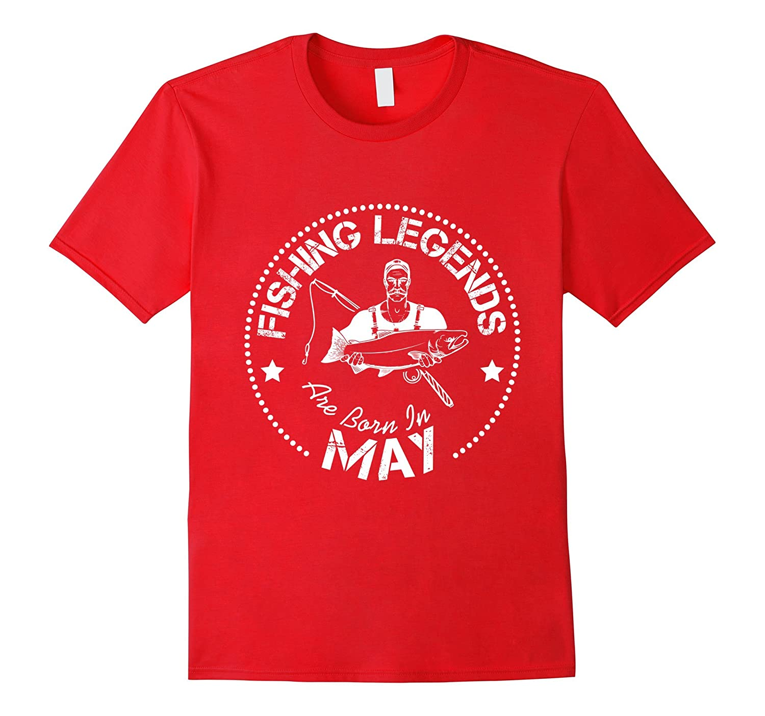 Funny T-Shirt Fishing Legends Are Born In May-Vaci