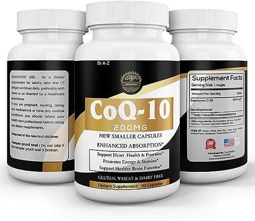 Nature's Pure Co q 10 Supplement 200mg Coq10 Capsules Veggie Ubiquinol, Ubiquinone Co Q 10 Enzyme Coq10 200mg - Promotes Heart Health, Energy Production, Naturally Fermented 90 Capsules