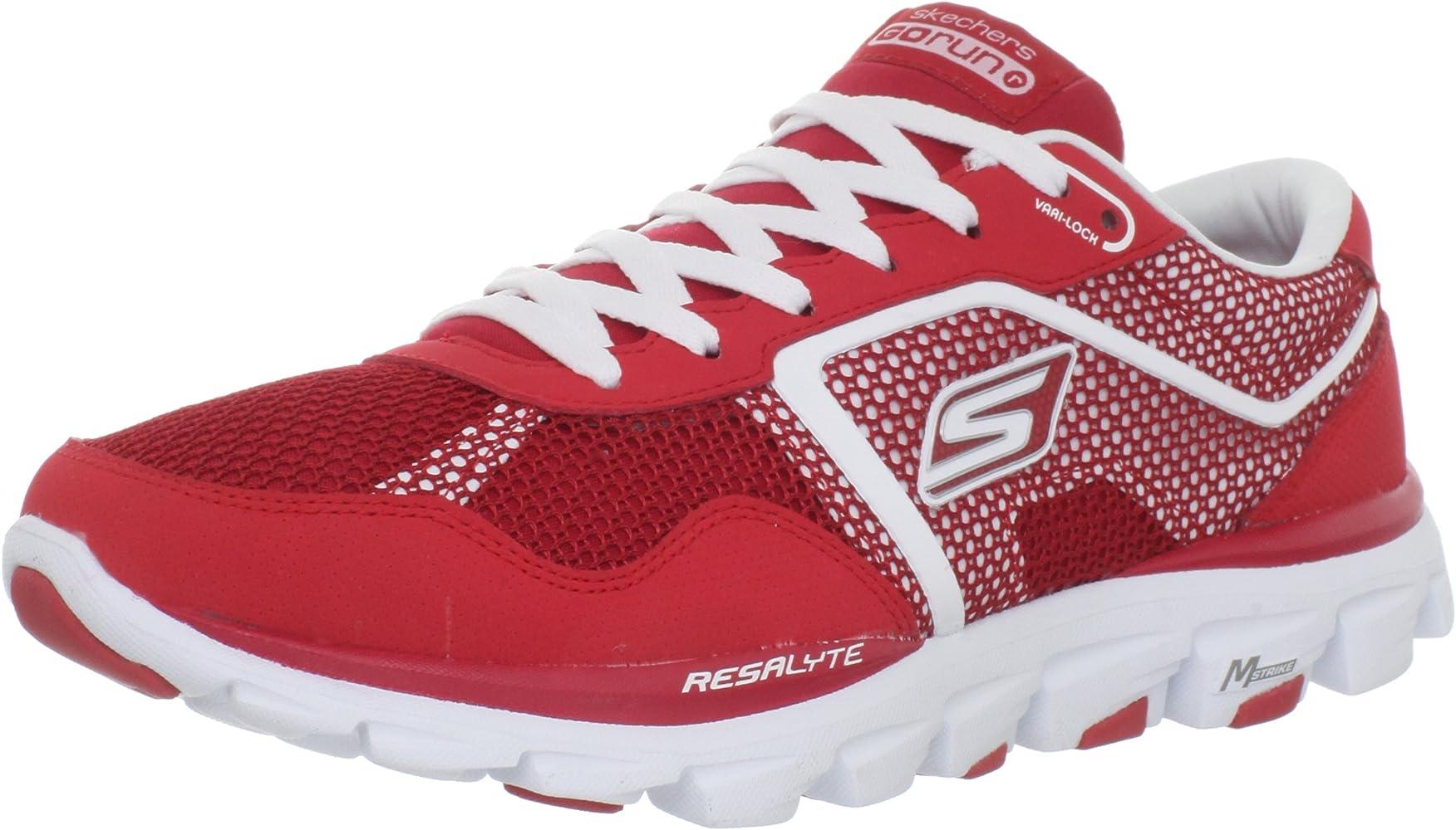 SKECHERS GOrun Ride Ultra Zapatilla de Running Caballero, Rojo, 41 ...