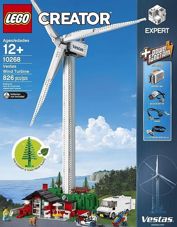 LEGO Creator Expert Vestas Wind Turbine 10268 Building Kit, New 2019 (826  Pieces)