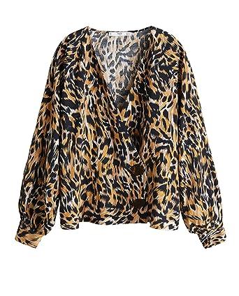 1028536e57eb80 MANGO Women Leopard Print Blouse 43091065 at Amazon Women s Clothing ...
