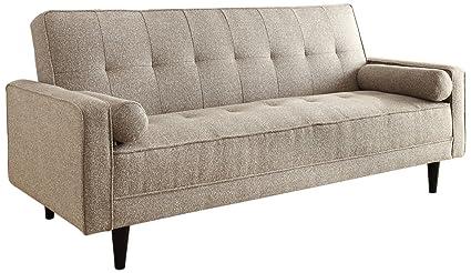 ACME 57071 Edana Adjustable Sofa With 2 Pillows, Sand Linen