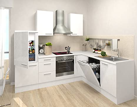 respekta Cocina vacíos de Bloque Premium L de Cocina 260 x 200 cm Cuerpo Blanco Frente