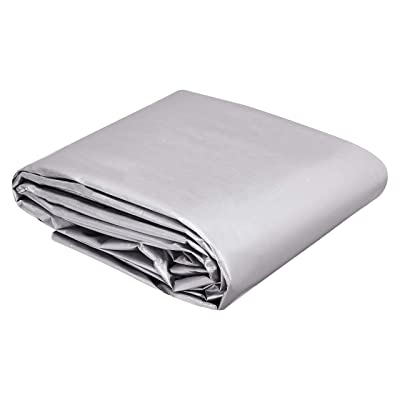 Commercial Multi Purpose Waterproof Poly Tarp Cover, 16 X 20 FT, 16MIL Thick, Silver/Black, 1-Pack: Industrial & Scientific