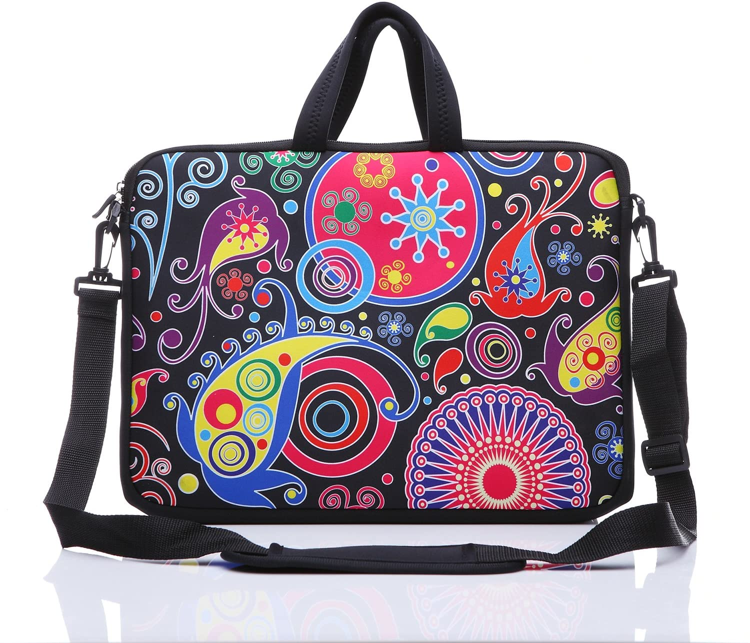 """YIDA 10-Inch Laptop Shoulder Sleeve Case and Tablet Bag for Most 9.7"""" 10"""" 10.1"""" 10.2"""" Ipad/Notebook/eBook/Readers (Classic Colourful)"""