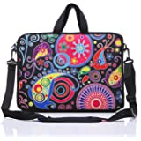"10-Inch Laptop Shoulder Sleeve Case and Tablet Bag for Most 9.7"" 10"" 10.1"" 10.2"" Ipad/Notebook/eBook/Readers (Classic Colourful)"