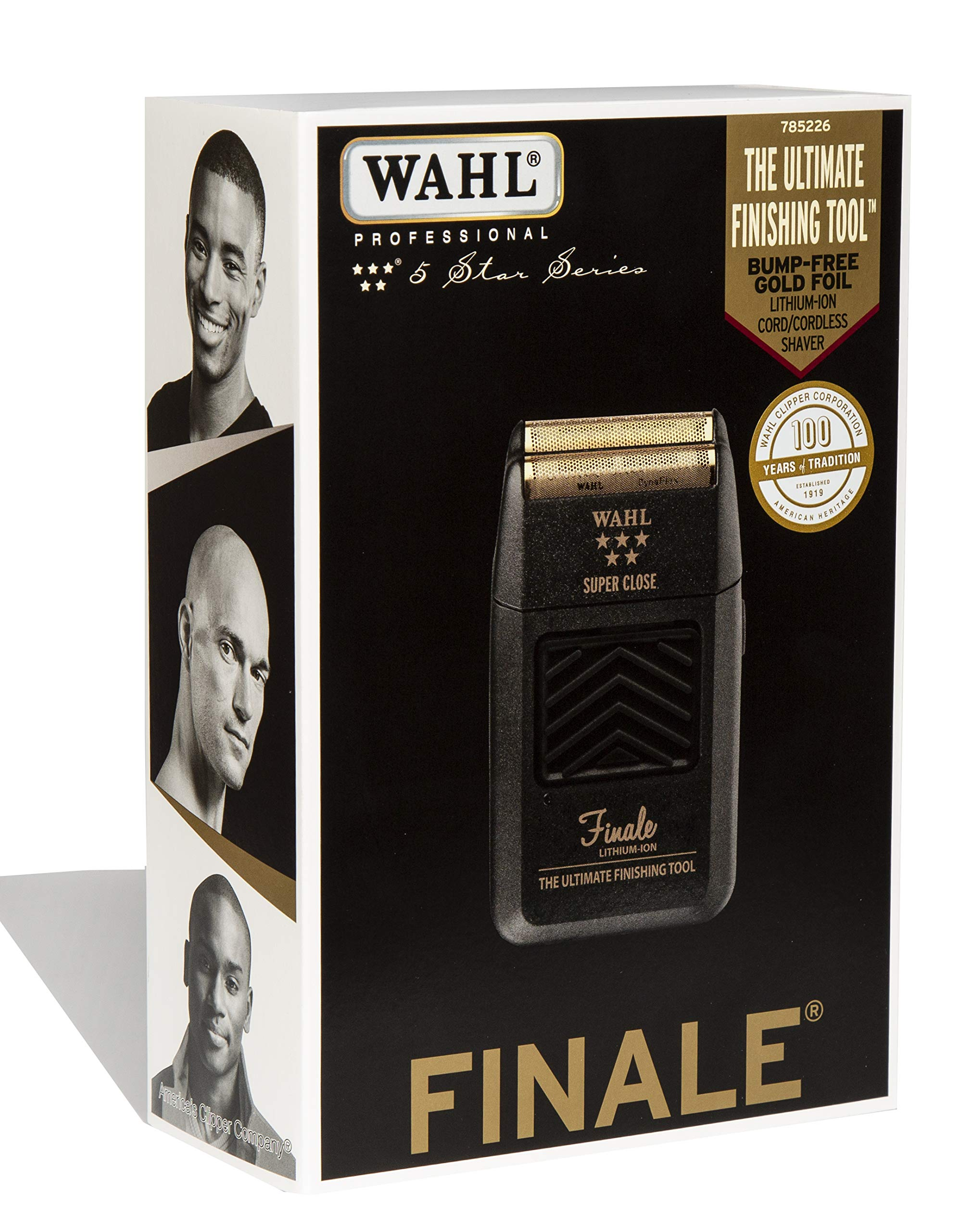 Wahl Professional 5-Star Series Finale Finishing Tool #8164 - Great for Professional Stylists and Barbers - Super Close - Black by Wahl Professional